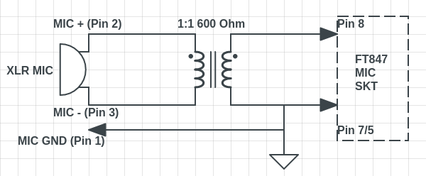 Balanced to Unbalanced Mic Schematic